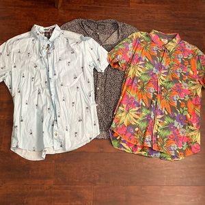 Vans Volcom summer collared shirts